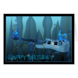 Happy Birthday Guitar played by underwater fish Cards