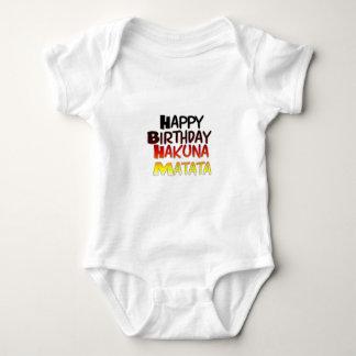 Happy Birthday Hakuna Matata Inspirational graphic Baby Bodysuit