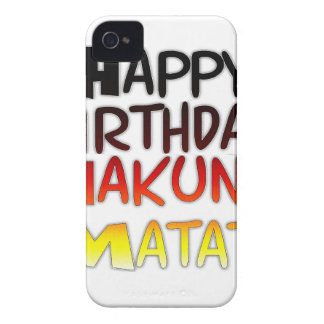 Happy Birthday Hakuna Matata Inspirational graphic iPhone 4 Case