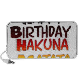 Happy Birthday Hakuna Matata Inspirational graphic Mini Speaker