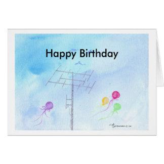 Happy Birthday, Ham Operator Card