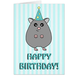 Happy Birthday Hamster Greeting Card