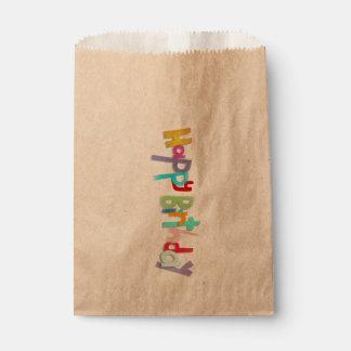 Happy Birthday Handmade Letters Favor Bag
