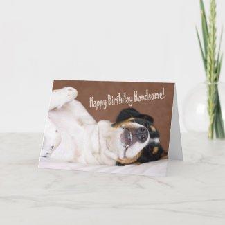 Happy Birthday Handsome Greeting Card card