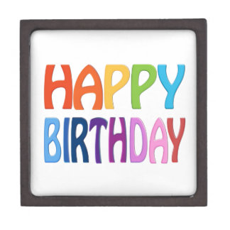 HAPPY BIRTHDAY - Happy 3D-like Colourful Gift Jewelry Box
