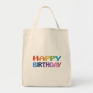 HAPPY BIRTHDAY - Happy 3D-like Colourful Gift Tote Bag