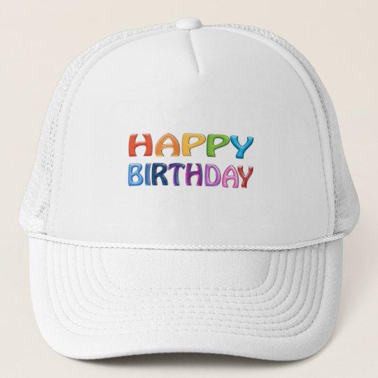 HAPPY BIRTHDAY - Happy 3D-like Colourful Gift Trucker Hat