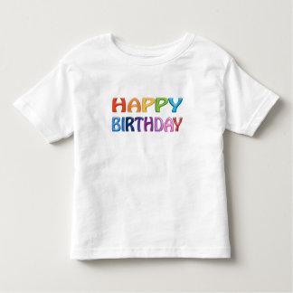 HAPPY BIRTHDAY - Happy 3D-like Colourful T-shirt