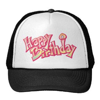 Happy Birthday Happy anniversary Trucker Hats