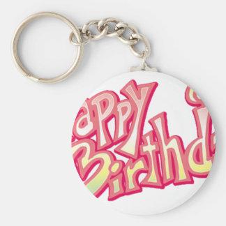 Happy Birthday Happy anniversary Keychain