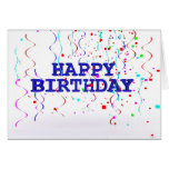 Happy Birthday.  Happy Colourful Greeting Notecard Card