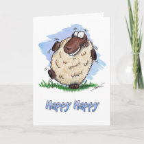 Happy Birthday Happy Dancing Sheep Card