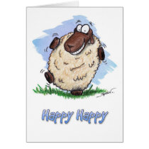 Happy Birthday Happy Dancing Sheep Card