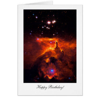 Happy Birthday, Happy Returns, Star Cluster Space Card