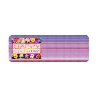HAPPY Birthday HappyBirthday Artistic Color Shade Label