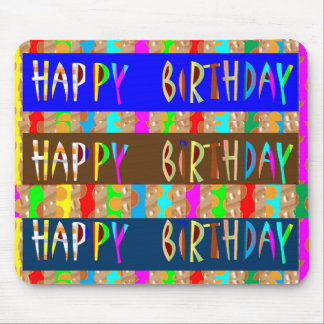 HAPPY Birthday HappyBirthday : Artistic Script Mouse Pad
