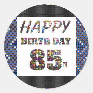 happy birthday happybirthday  designs classic round sticker