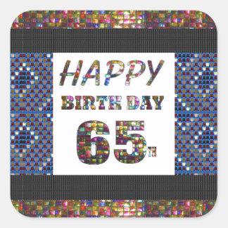happy birthday happybirthday  designs square sticker