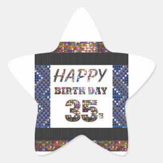 happy birthday happybirthday  designs star sticker