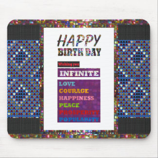 Happy Birthday HappyBirthday Greetings Gifts Mouse Pad