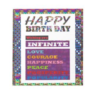 Happy Birthday HappyBirthday Greetings Gifts Notepad
