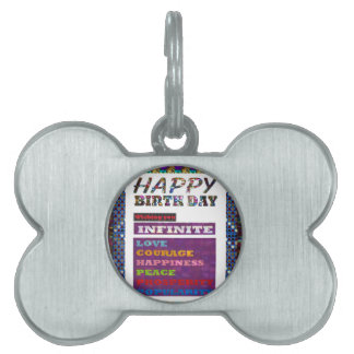 Happy Birthday HappyBirthday Greetings Gifts Pet Name Tag