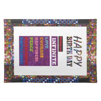 Happy Birthday HappyBirthday Greetings Gifts Cloth Placemat