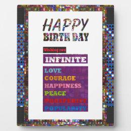 Happy Birthday HappyBirthday Greetings Gifts Plaque
