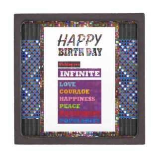 Happy Birthday HappyBirthday Greetings Gifts Premium Trinket Box
