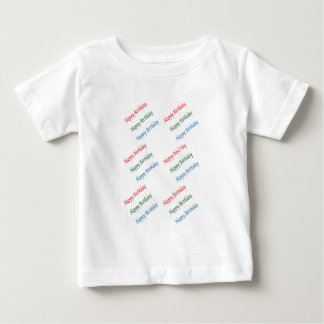 HAPPY BIRTHDAY HappyBirthday Script Colorful Light Baby T-Shirt