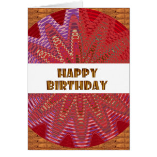 HAPPY BIRTHDAY HappyBirthday TEXT n ARTISTIC BASE Card
