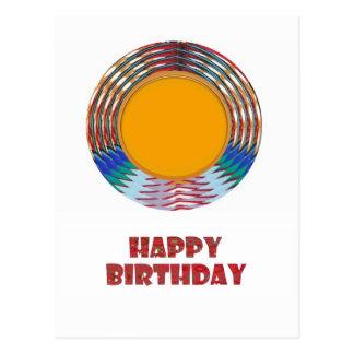 HAPPY BIRTHDAY HappyBirthday TEXT n ARTISTIC BASE Postcard