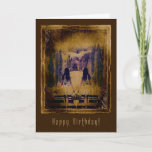 """Happy Birthday  Haunting Spooky Girls Card<br><div class=""""desc"""">An eerie and dark birthday greeting card featuring a hauntingly spooky version of"""