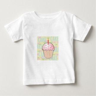 Happy Birthday Heart Cupcake Baby T-Shirt