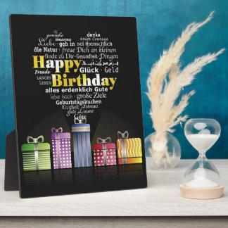 Happy Birthday Heart Photo Plaques