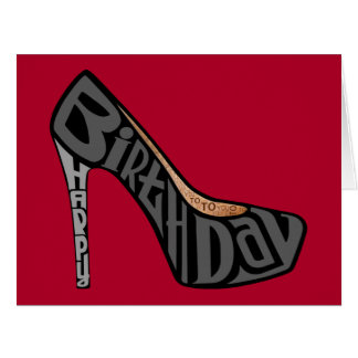 Happy Birthday High Heel Shoe Oversized Card