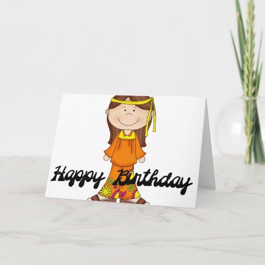 Happy birthday hippie girl 1 greeting card zazzle happy birthday hippie girl 1 greeting card m4hsunfo
