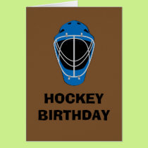 Happy Birthday Hockey Goalie Mask Card