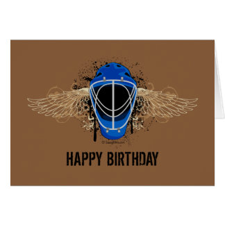 Happy Birthday Hockey Goalie Mask Greeting Card