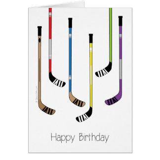 Happy Birthday! Hockey Sticks Greeting Card