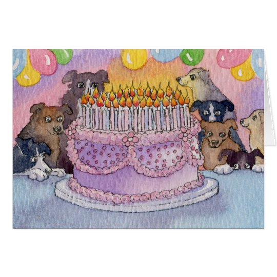 Happy Birthday! Hope You Get Lots of Cake CARD Dog