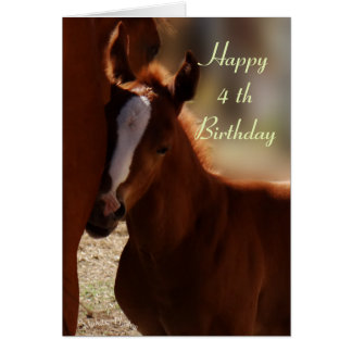Happy Birthday Horse Card- customize any occasion Card