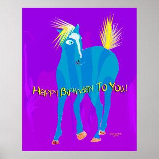 Happy Birthday Horse Poster