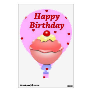 Happy Birthday Hot Air Balloon Wall Decal