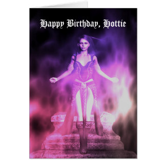 Happy Birthday, Hottie Card