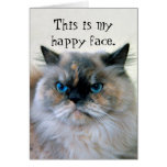 Happy Birthday Humor Himalayan Persian Cat Greeting Card