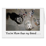 Happy BIrthday humor - puppy friends Greeting Card