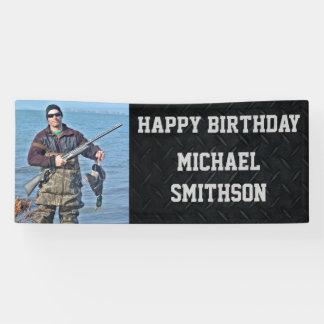 Happy Birthday Hunting Men's Photo Banner