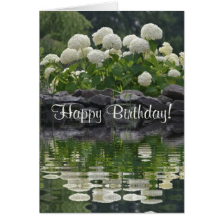 Happy Birthday Hydrangea Card
