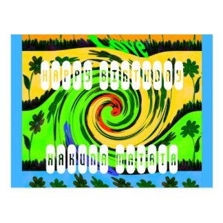 Happy Birthday I love Surf Hakuna Matata Postcard